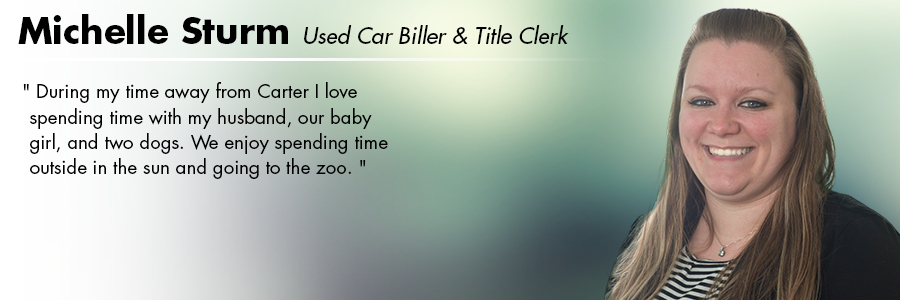 Michelle Sturm, Used Car Biller and Title Clerk at Carter Subaru Ballard in Seattle, WA