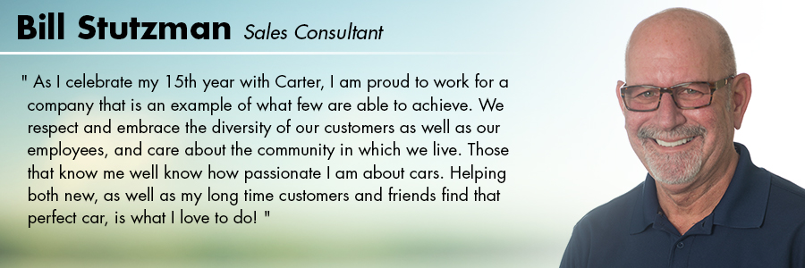 Bill Stutzman, Sales Consultant at Carter Subaru Ballard in Seattle, WA