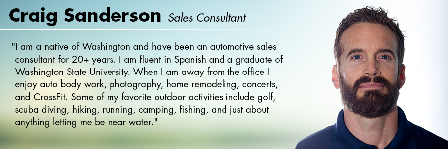 Craig Sanderson, Sales Consultant at Carter Subaru Ballard in Seattle, WA