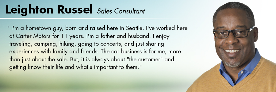 Leighton Russell, Sales Consultant at Carter Subaru Ballard in Seattle, WA
