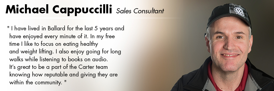 Michael Cappuccilli, Sales Consultant at Carter Subaru Ballard in Seattle, WA