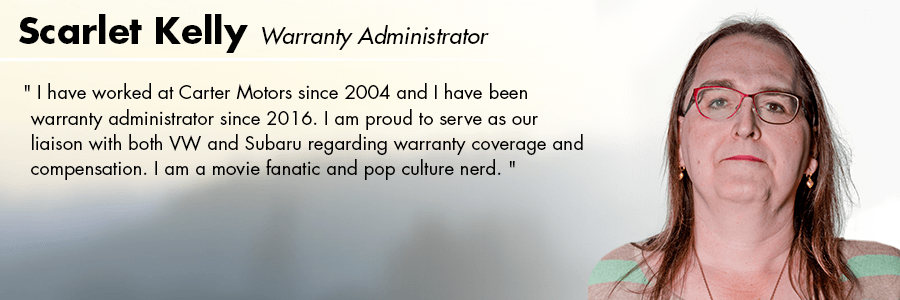 Scarlet Kelly, Warranty Administrator at Carter Subaru Ballard in Seattle, WA