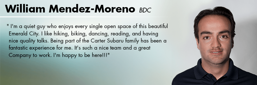 William Mendez-Moreno, BDC at Carter Subaru Ballard in Seattle, WA