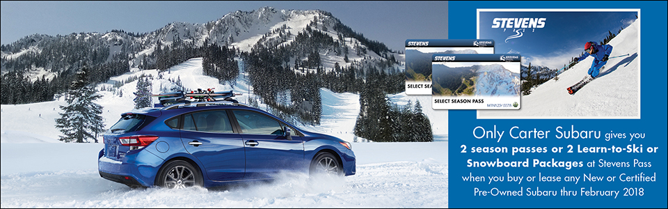 Get 2 Free Season Passes or Free Lessons from Carter Subaru Shoreline