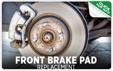 Click to view our front brake pad replacement service serving Seattle, WA
