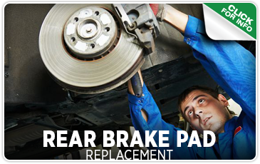 Click to view our rear brake pad replacement service serving Seattle, WA