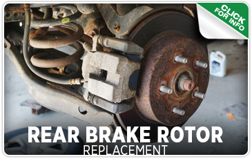 Click to view our rear brake rotor replacement service serving Seattle, WA