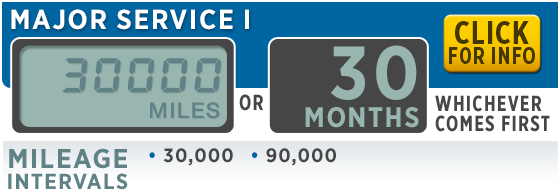 Subaru Recommended Major Service 1 Every 30,000 Miles or 30 Months