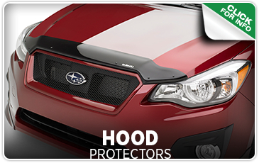 Click to learn more about genuine Subaru hood protectors available in Seattle, WA