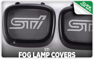 Click to browse our STI Fog Lamp Covers performance parts information at Carter Subaru Ballard
