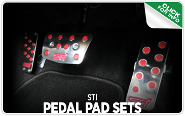 Click to browse our STI Pedal Pad Sets performance parts information at Carter Subaru Ballard