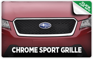 Click to research our chrome sport grille performance parts information at Carter Subaru of Ballard