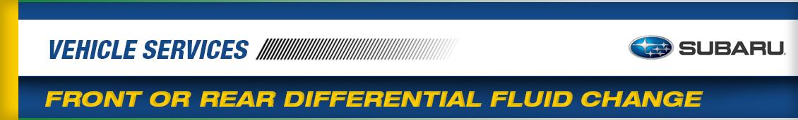 Subaru Front & Rear Differential Fluid Change Service