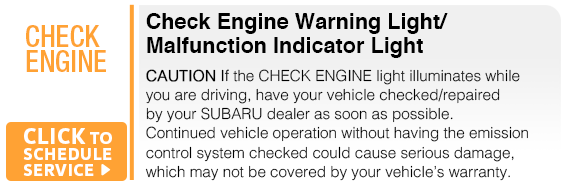 Subaru Check Engine Warning Light