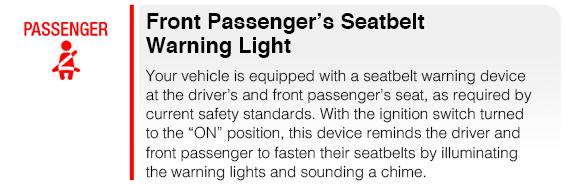 Subaru Front Passengers Seatbelt Warning