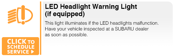 Subaru LED Headlight Warning