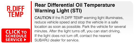 Subaru Rear Differential Oil Temperature