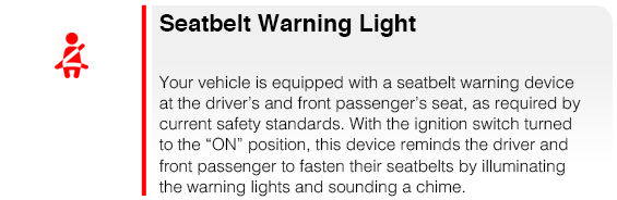 Subaru Seatbelt Warning Light