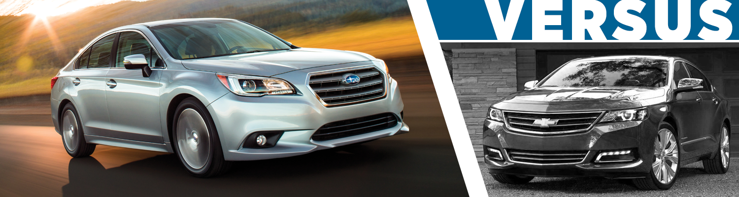 2017 Subaru Legacy VS 2017 Chevrolet Impala Model Comparison in Tacoma, WA