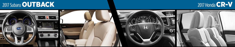 Outback Vs Crv >> 2017 Subaru Outback Vs 2017 Honda Cr V Model Comparison