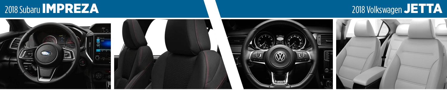 Compare The 2018 Subaru Impreza vs Volkswagen Jetta Interior Styling