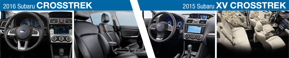 2016 subaru crosstrek vs 2015 crosstrek model feature - Subaru crosstrek interior lighting ...