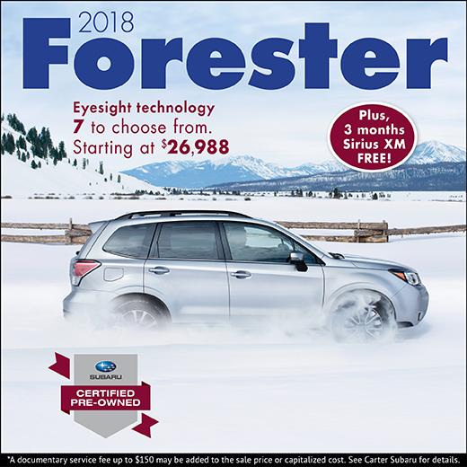 Certified Pre-Owned 2018 Subaru Forester Models in Stock at Carter Subaru Ballard