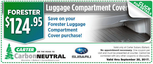 Subaru Forester Luggage Compartment Cover Special Seattle, Washington
