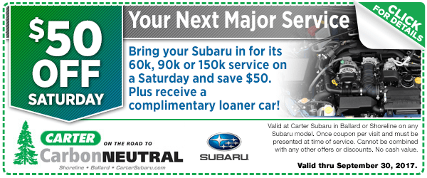 Save on Your Next Subaru Major Service in Seattle, WA