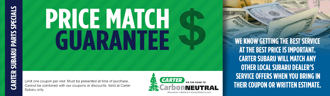 Save With Our Price Match Guarantee Service at Carter Subaru Ballard in Seattle, WA