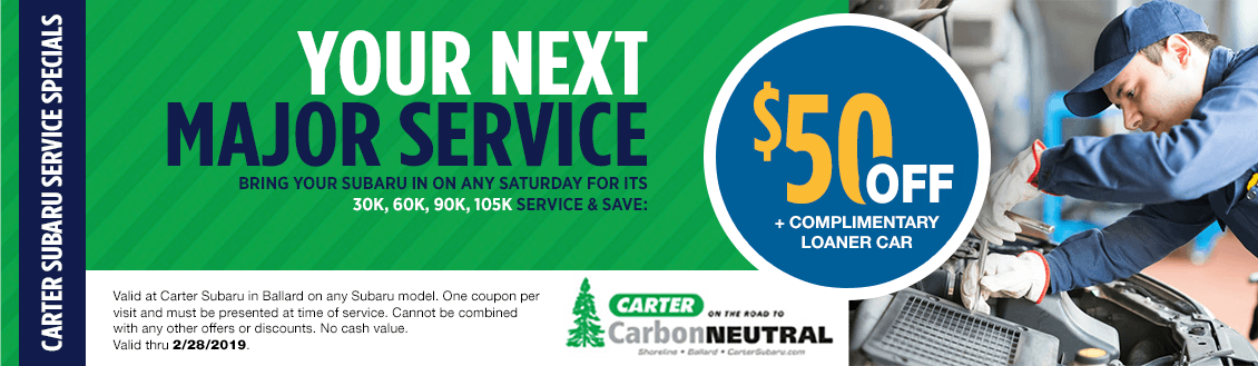 Saturday Major Service Special at Carter Subaru Ballard in Seattle, WA