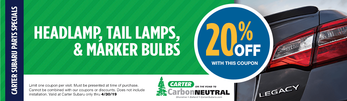 Save on Subaru Headlamps, Taillamps, & Marker Bulbs at Carter Subaru Ballard in Seattle, WA