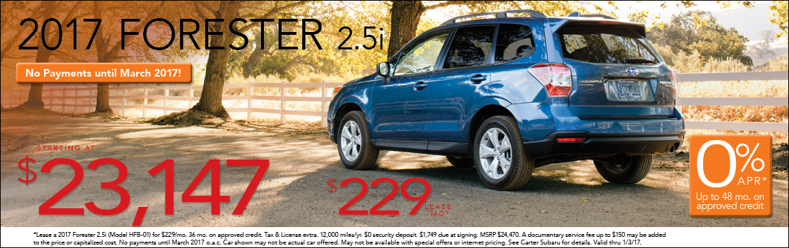 New 2017 Subaru Forester Sales & Lease Specials in Seattle, WA