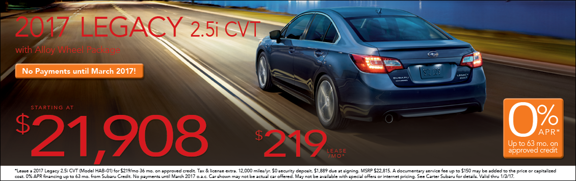 New 2017 Subaru Legacy Sales or Lease Special in Seattle, WA