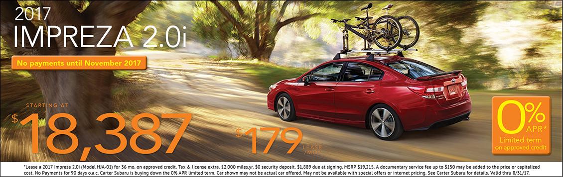 2017 Subaru Impreza Sales & Lease Specials in Seattle, WA