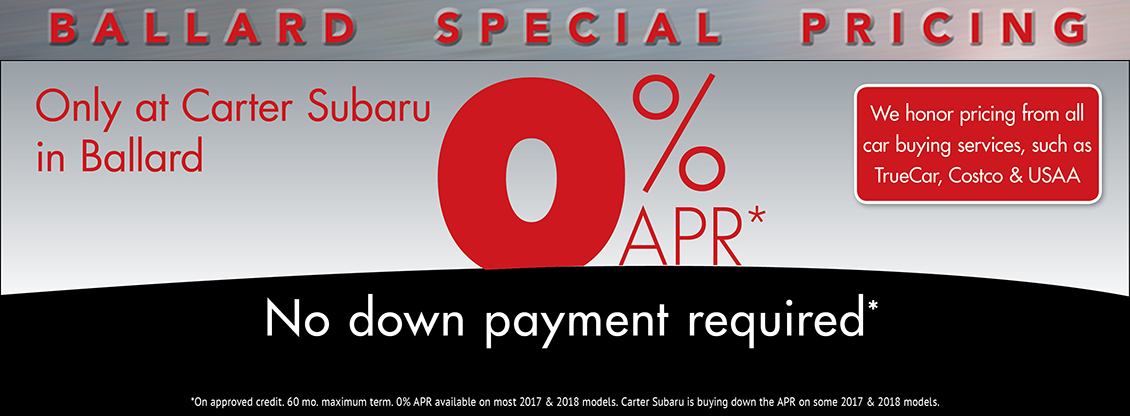 Get Low APR Financing at Carter Subaru Ballard in Seattle, WA