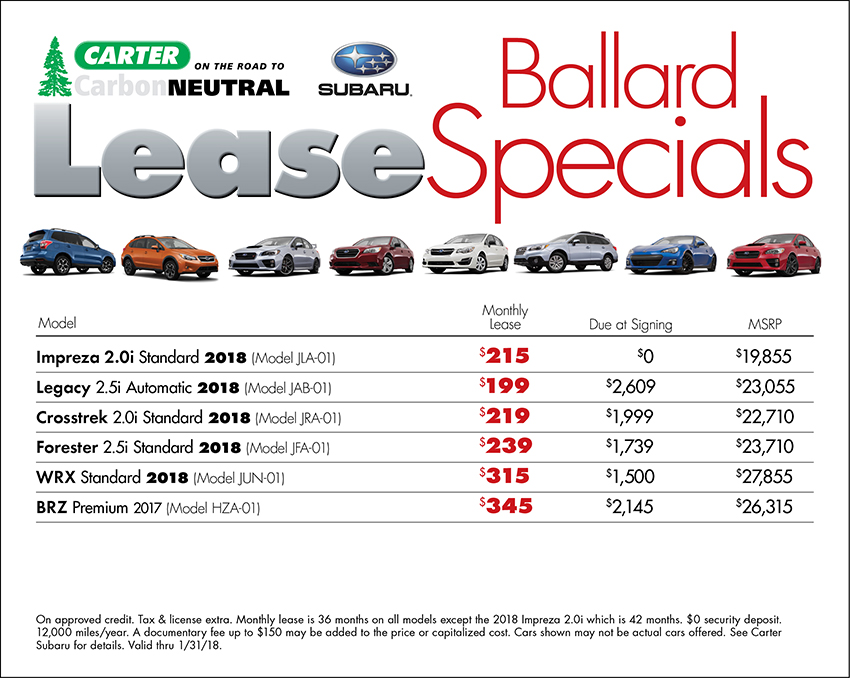 Get Special Lease Savings During the Subaru 50th Anniversary at Carter Subaru Ballard in Seattle, WA