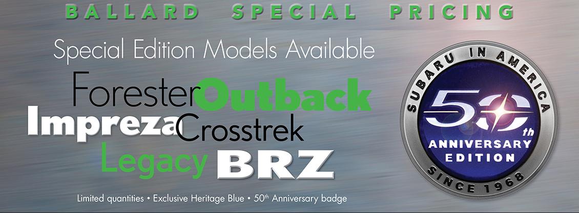 Carter Subaru Ballard Special Pricing - 50th Anniversary Offers