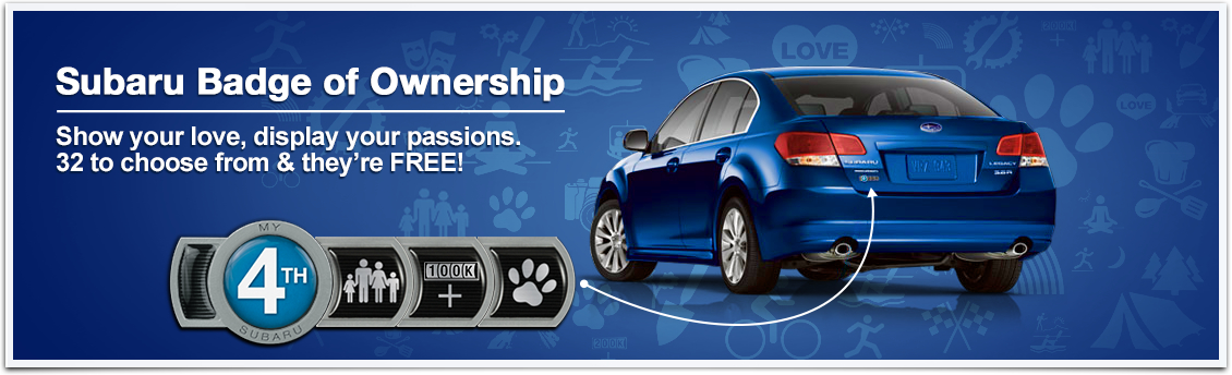 Create your very own free Subaru badge of ownership from Carter Subaru Shoreline in Seattle, WA