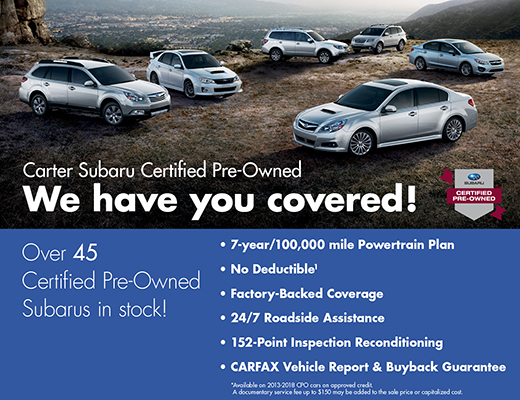 Certified Pre-Owned Subarus in Seattle, WA