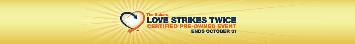 Save on a quality Subaru Certified Pre-Owned vehicle during the Love Strikes Twice Event at Carter Subaru Shoreline in Seattle, WA
