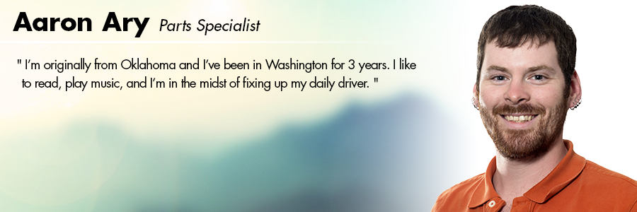 Aaron Ary , Parts Specialist at Carter Subaru Shoreline in Seattle, WA