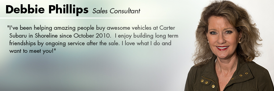 Debbie Phillips : Sales at Carter Subaru Shoreline in Seattle, WA