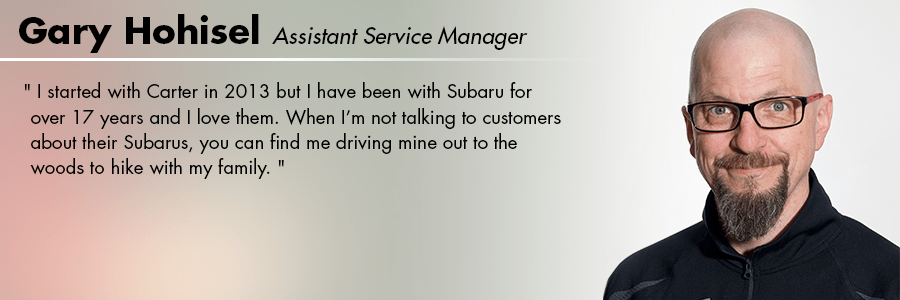 Gary Hohisel : Service Advisor at Carter Subaru Shoreline in Seattle, WA