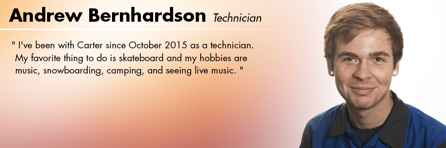 Andrew Bernhardson, Technician at Carter Subaru Shoreline in Seattle, WA