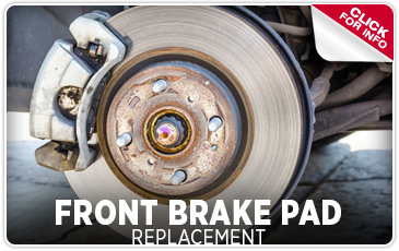 Click to view our front brake pad replacement service in Seattle, WA