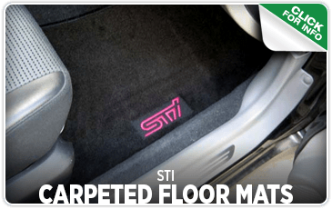View our STI carpeted floor mats performance parts information at Carter Subaru Shoreline in Seattle, WA