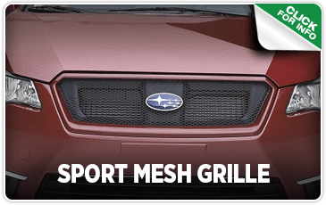 Click to browse our sport mesh grille performance parts information at Carter Subaru Shoreline