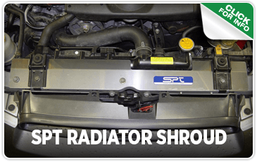 Click to browse our SPT Radiator Shroud performance parts information at Carter Subaru Shoreline