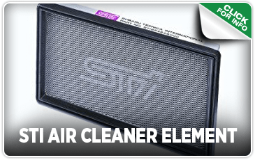 Click to browse our STI Air Cleaner Element performance parts information at Carter Subaru Shoreline